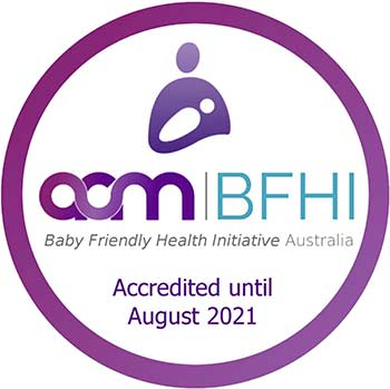 Baby Friendly Health Initiative accreditation logo