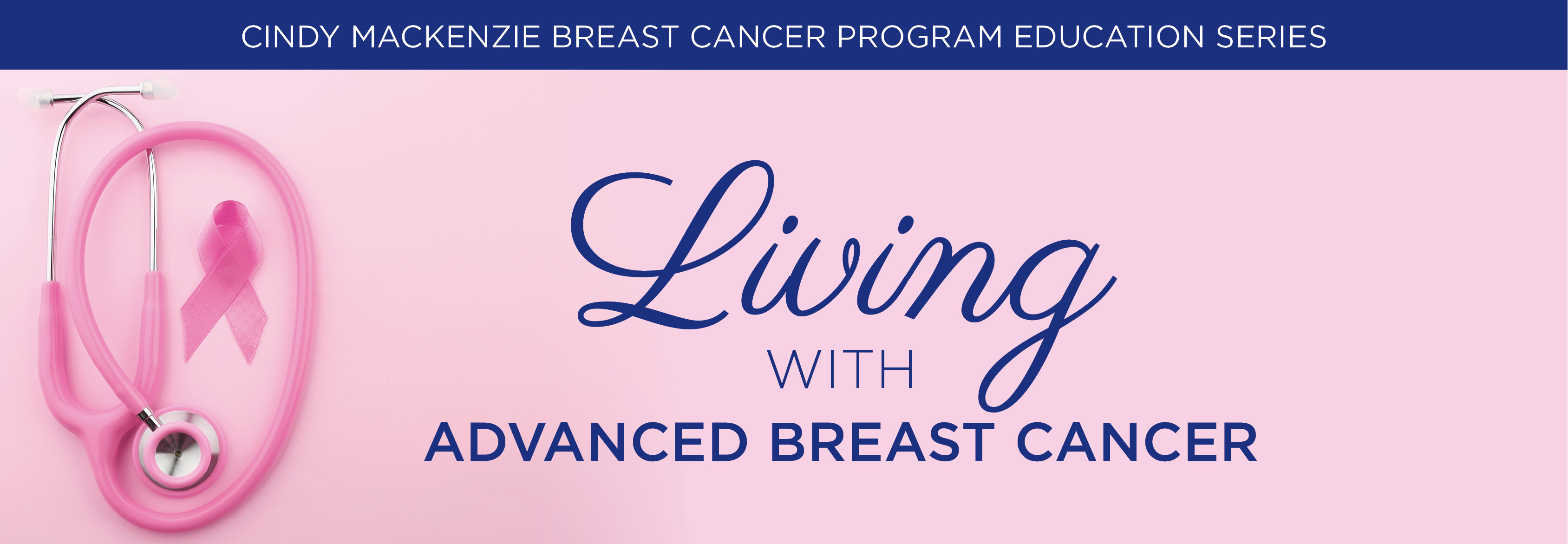 396 Living with advanced breast cancer banner