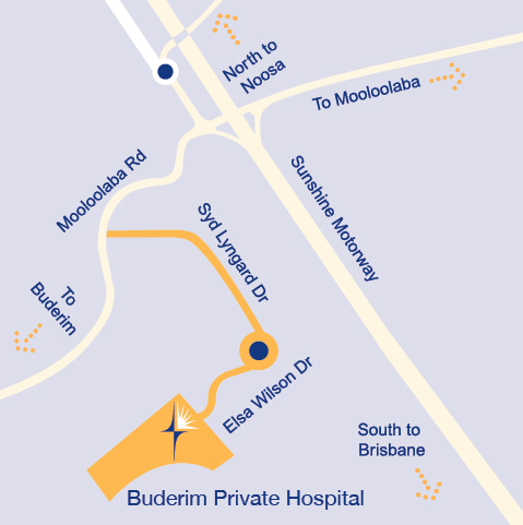 Buderim Private Hospital Local Map