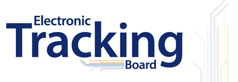 Electronic-tracking-board